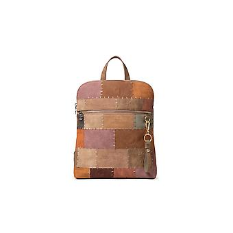 Desigual Penninsula Nanaimo Brown Patchwork Backpack 20WAKP09
