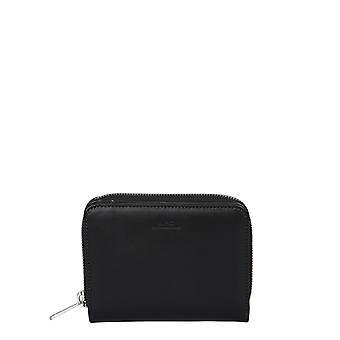 A.p.c. Pxawvh63087lzz Men's Black Leather Wallet