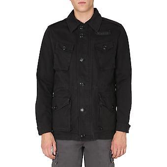 Aspesi Cg66a263st85241 Men's chaqueta exterior de lana negra