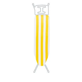 Granit Replacement Ironing Board Cover | Laminated Thick Felt | Adjustable Size Fits up to 105 x 30cm | Yellow Stripe