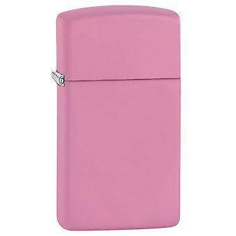 Zippo Slim Pink Matte Lighter -