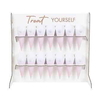 Treat Stand Food Cones Sweet Table Rose Gold Foiled Wedding Party
