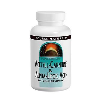 Fonte Naturali Acetil L-Carnitina & Acido Alfa-Lipoico, 650 mg, & Acido Alfa-lipoico 120 Schede