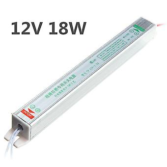 IP20 AC200V-264V To DC12V 18W Switching Power Supply Driver Adapter