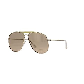 Tom Ford Connor-02 TF557 28Y Shiny Rose Gold/Violet Sunglasses