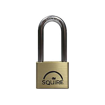 Henry Squire LN5/2.5 Lion Brass Padlock 5-Pin 50mm - 65mm Long Shackle HSQLN525