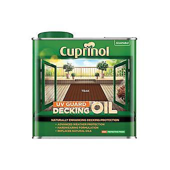 Cuprinol UV Guard Decking Oil Teak 2.5 litre 5380727