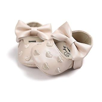 Baby Pu Leather Moccasins Moccs Shoes Bow Fringe Soft Soled Non-slip Footwear Crib Shoes