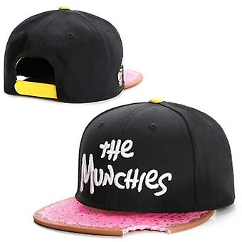 Munchies Snacks Pink Snapback Hat, Men Women Adult Hip Hop Headwear Outdoor