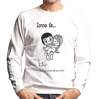 Love Is Being Swept Off Your Feet Men-apos;s Sweatshirt