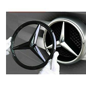 Gloss Black Mercedes Benz 3 Point Star Emblem Badge 187 mm For CLA Class C117 W117 2013+