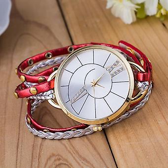 Simple Dial Leather Strap Crystal Algarismos Romanos Quartz Watch women Bracelet
