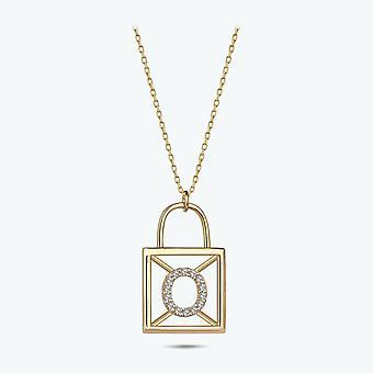 Bokstav o guld halsband