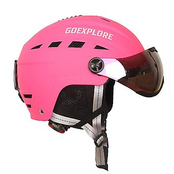 Goexplore קסדות הסקי הטובות ביותר, בטיחות אור ספורט חיצוני עם סקייטבורד מגן /