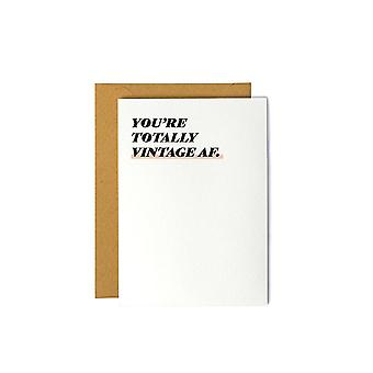 You're Totally Vintage Af-birthday Greeting Card