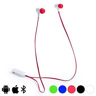 Button headphones Bluetooth Red