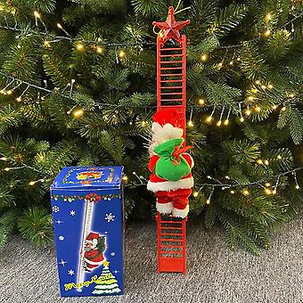 Electric Climbing Santa Doll Toy