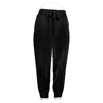 Chiunque donna Petite Pants Satin Joggers Nero A345513
