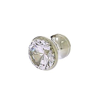 Carolina Crystal Collection Cabinet Knob - Polished Nickel