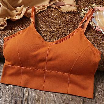 Women Tank Crop Top Sexy Sous-vêtements féminins transparents Lingerie Strap Réglable