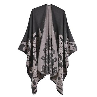Women's Autumn And Winter Plus Size Butterfly Gray Warm Scarf Blanket Shawl