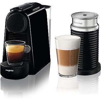 Nespresso Essenza Mini Coffee Machine with Aeroccino, Pure Black by Magimix