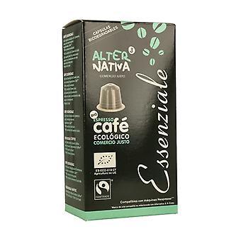 エッセンツィアーレコーヒー10カプセル5gの生分解性生態カプセル