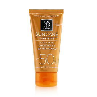 Suncare sensitive face cream with chamomile & 3 d pro algae spf 50 244710 50ml/1.7oz