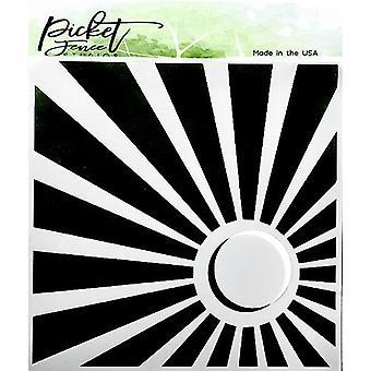 Picket Fence Studios Corner sön 6x6 tums Stencil