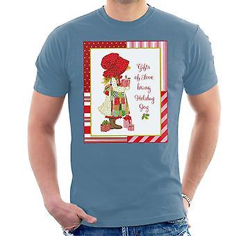 Holly Hobbie Christmas Gifts Of Love Bring Holiday Joy Men's T-Shirt