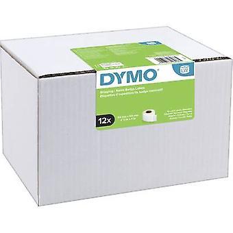 DYMO Label roll 13186 S0722420 101 x 54 mm paperi valkoinen 2640 kpl (t) pysyviä rahti tarroja, nimi tarroja
