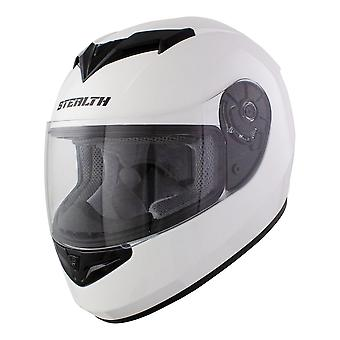 Stealth Full Face Helmet V121 Gloss White