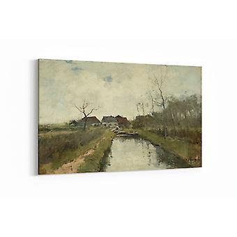 Malerei - Ferienhaus auf einem Graben - 100x70cm