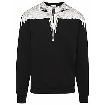 Marcelo Burlon Cmba009r21fle0011001 Men's Black Cotton Sweatshirt