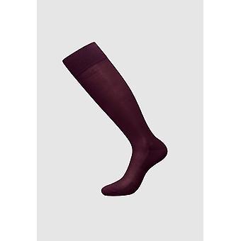 Mercerized Cotton Knee Socks   - Men Socks