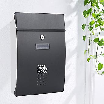 Caja de letras montada en la pared de acero inoxidable al aire libre con bloqueo