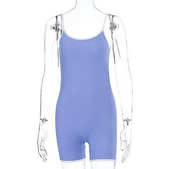 Pasek striptskie kobiety playsuit backless bodycon streetwear