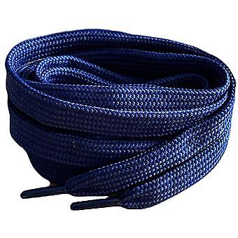 Cordones de zapatillas de entrenador plano de la Marina