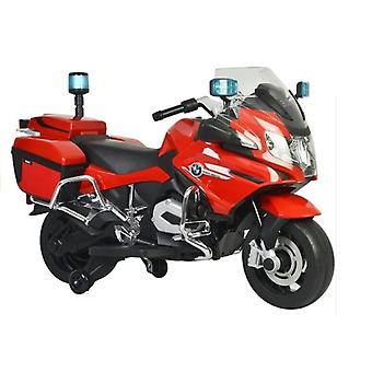 Elektrische Polizei Kindermotor von BMW R1200 Rot mit Blinklichtern