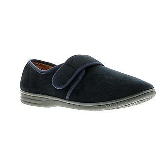 Dr Keller george mens full slippers navy UK Size