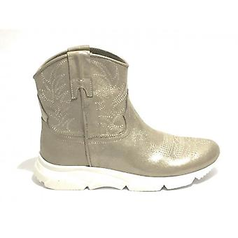 Women's Shoes Texan Ankle Boot Running Life Platinum Laminate Leather Bottom Ds19li03
