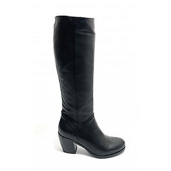 Women's Shoes Elite Calf Boot Tc 65 Leather Black Color D20el04