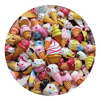 Resin Charms Slime Decor, All Filler Cute Cake /fruits/candy Phone Case Tools
