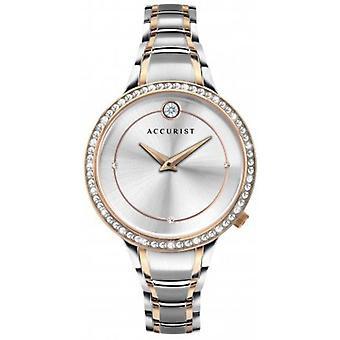 Accurist 8341 Pure Brilliance Růžové zlato & Amp; Stříbrné dámské hodinky