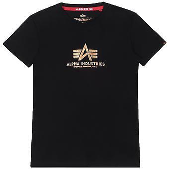 Alpha Industries camiseta de mujer nueva impresión básica de papel de aluminio