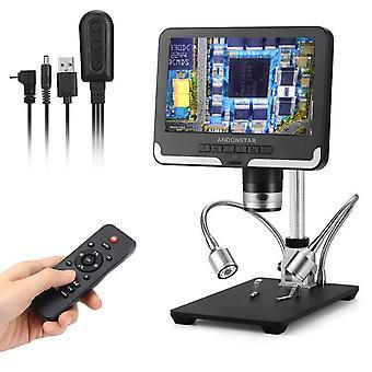 Andonstar heta digitala mikroskop långa linser för lödning ad206 med lcd-skärm ad206 svartvita 1080p scope lödverktyg