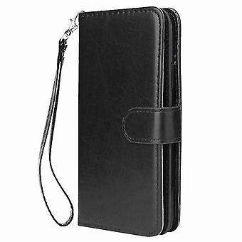 Leather case with 9 card slots for Samsung Galaxy A750/ A7 2018/ A750F - Black