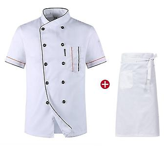 Chiefs Short Sleeve Summer Restaurant Hotel Kitchen Workwear Jacket + Hat +