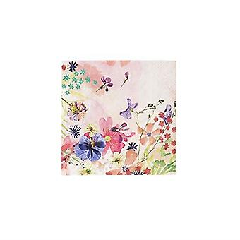 Floral Cocktail Paper Napkins | Girls Blossom Pink Birthday Party x20