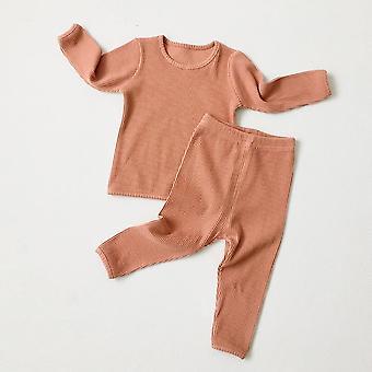 Lasten pyjama, Sleepwear Pitkähihaiset univaatteet Setti